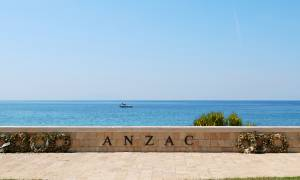 Anzac Cove with wreaths -Turkey Tours-On The Go Tours