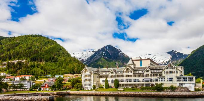 Balestrand Hotel and View - Magic of the Fjords - On The Go Tours
