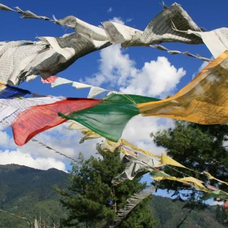 Bhutan Prayer flags - Bhutan - On The Go Tours