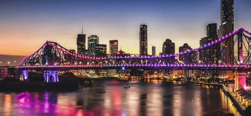 Story Bridge in Brisbane, Queensland, Australia