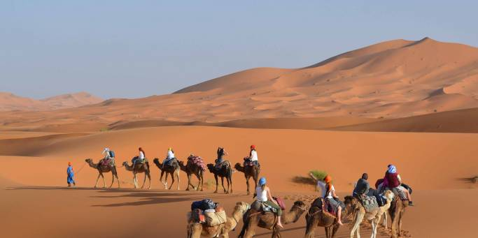 Desert Tours to Morocco in the wide expanse of the Sahara