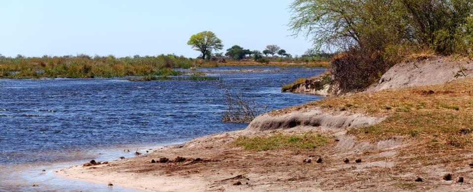 The blue water of the Zambezi Region, formerly known as the Caprivi Strip