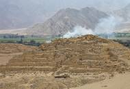 The ancient pyramid of Caral, thought to be one of the oldest cities in the Americas