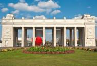The central gate of Gorky Park in Moscow