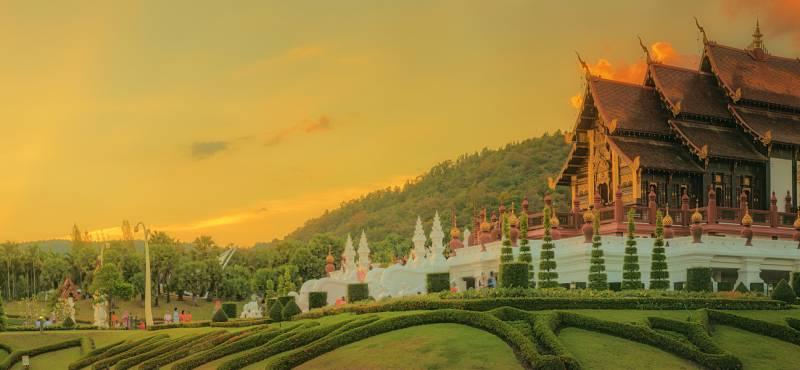 The Royal Pavilion at Ratchaphruek Park in Chiang Mai, Thailand