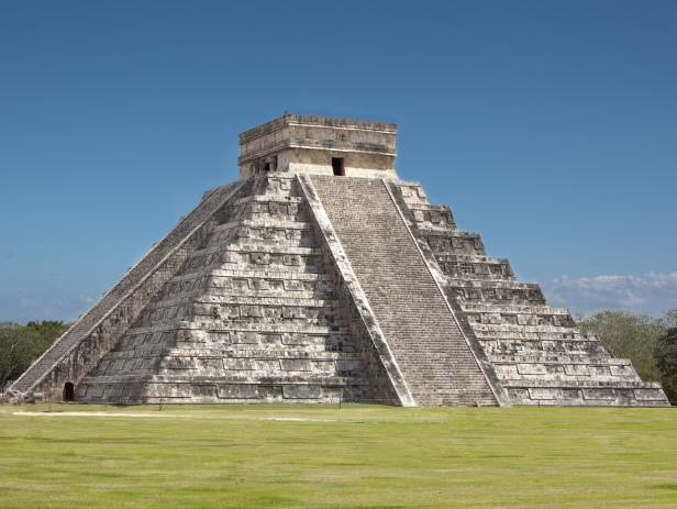 The incredible main temple of the Chichen Itza site called El Castillo