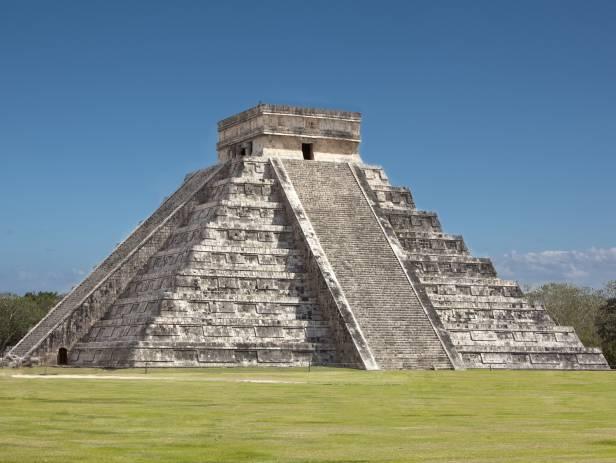 The incredible main temple of the Chichen Itza site called El Castillo