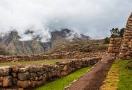 View of the stone terraces located close to the Andean village of Chinchero