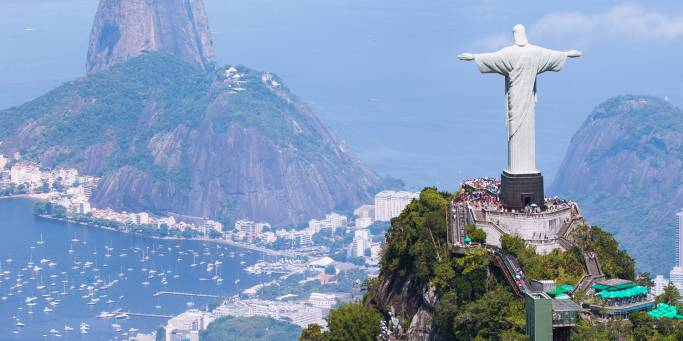 Overlooking Brazil from Christ the Redeemer | Brazil | South America