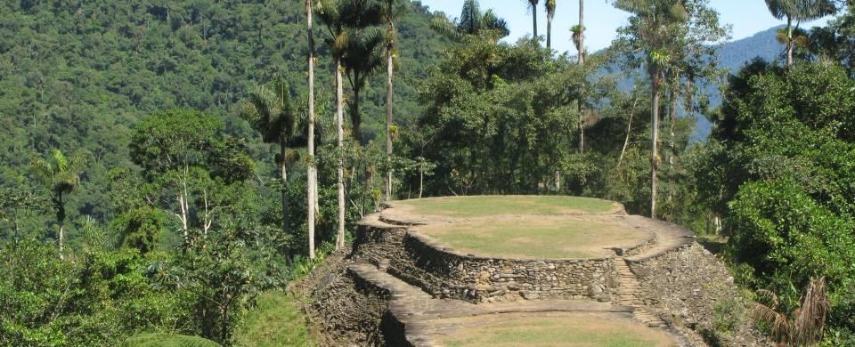 The circular terraces of the Ciudad Perdida, Colombia's Lost City