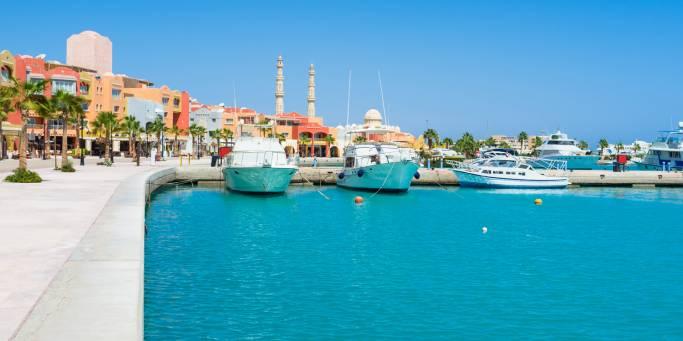 Colourful marina of Hurghada | Egypt