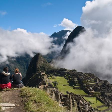 Couple in front of Machu Picchu - Peru Tours - South America Tours - On The Go Tours