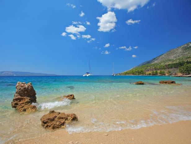 The famous beach of Bol on Brac island in Croatia
