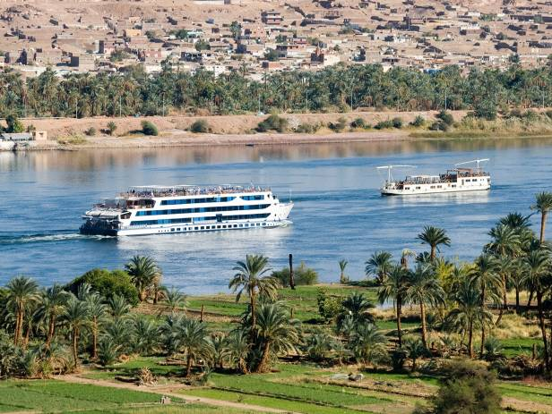 Cruise ship on the River Nile