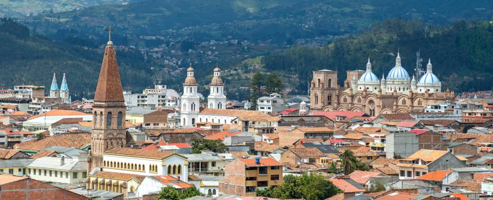 Charming town of Cuenca, fringed with rugged wilderness