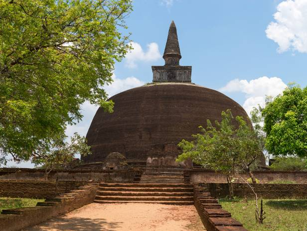 A stupa in one of the Dambulla caves