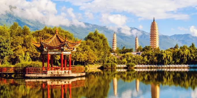 Three Pagodas and Cangshan Mountain | Dali | China