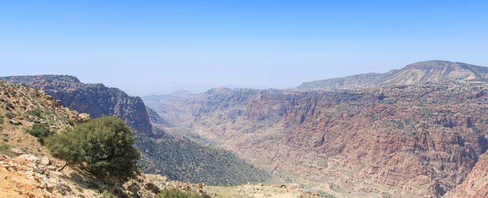Rugged, mountainous landscape of the Dana Nature Reserve