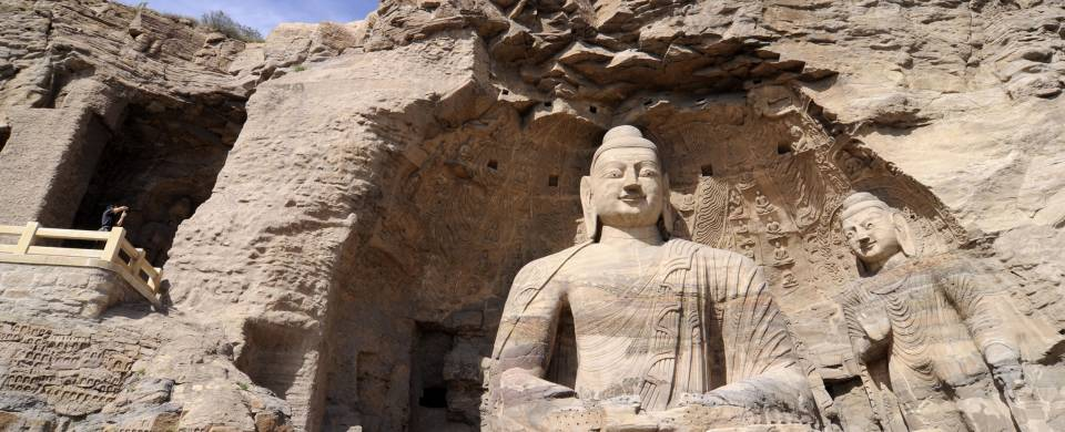 The towering rock-cut Buddhas of the Datong cave temples