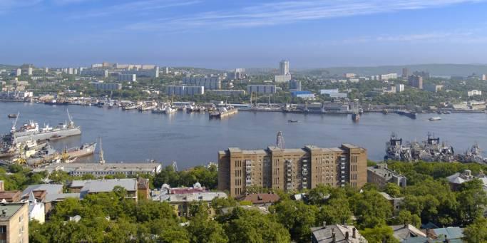 Bay Golden Horn Bay in Vladivostok | Trans-siberian Railway | Russia