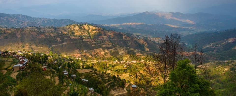 Stunning views of the valleys surrounding Dhulikhel in Nepal