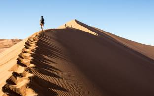 Climbing the dunes of Sossusvlei - Namibia - Africa