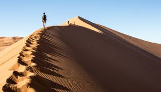 Climbing the dunes of Sossusvlei - Namibia - Africa