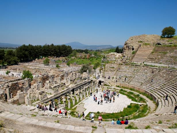 The stunning ancient ruins at the historical site of Ephesus