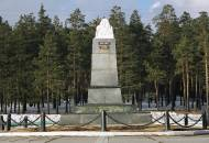 The Europe/Asia obelisk that marks where these two continents meet near Yekaterinburg