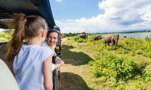 Family in Udawalawe National Park - Sri Lanka - On The Go Tours