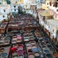 Multi-coloured tanneries in Fes