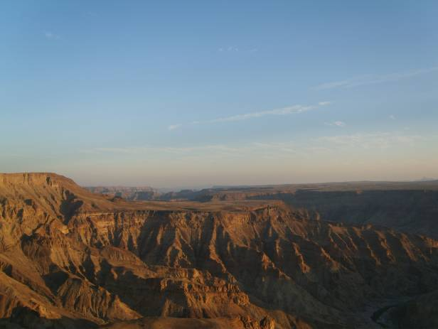 Aerial view over the Fish River Canyon