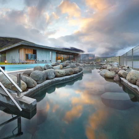 Fontana Baths pool - Iceland Tours - On The Go Tours