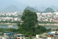 The view looking out across to Fubo Shan and the Li River in Guilin