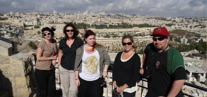 Group shot on Mt of Olives - Israel Tours - On The Go Tours