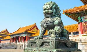 Guardian Lion in Beijing's Forbidden City - China Tours - On The Go Tours