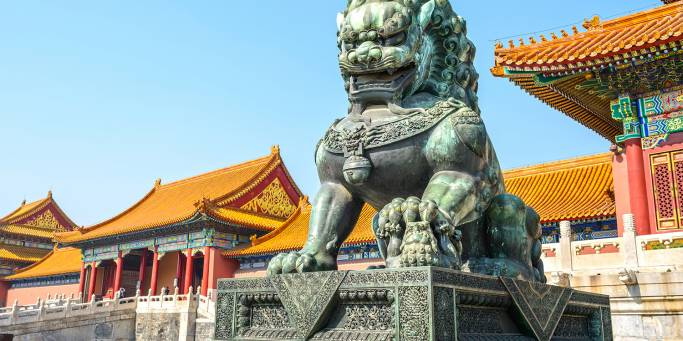 Guardian lion in Forbidden City | Beijing | China