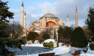 Hagia Sofia in winter - Turkey Tours - On The Go Tours