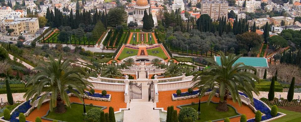 The immaculately landscaped Baha'i Gardens in Haifa