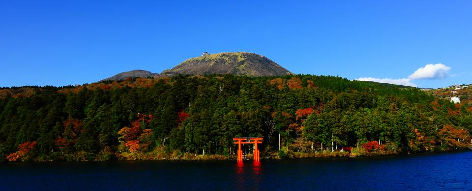 View of Miyajima from across the water in Hakone