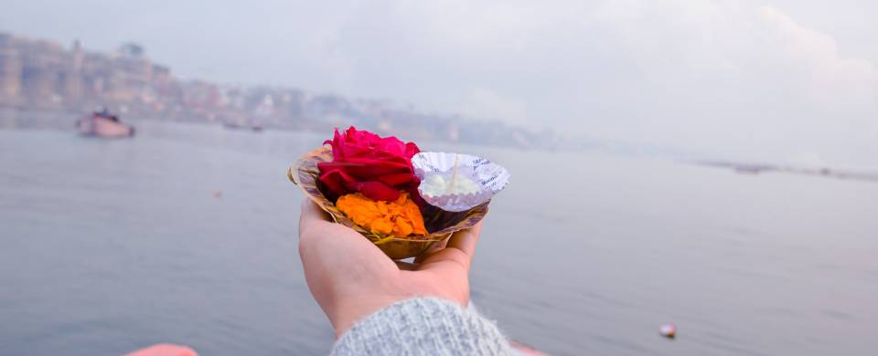 The Puja Ceremony on the Ganges in Haridwar