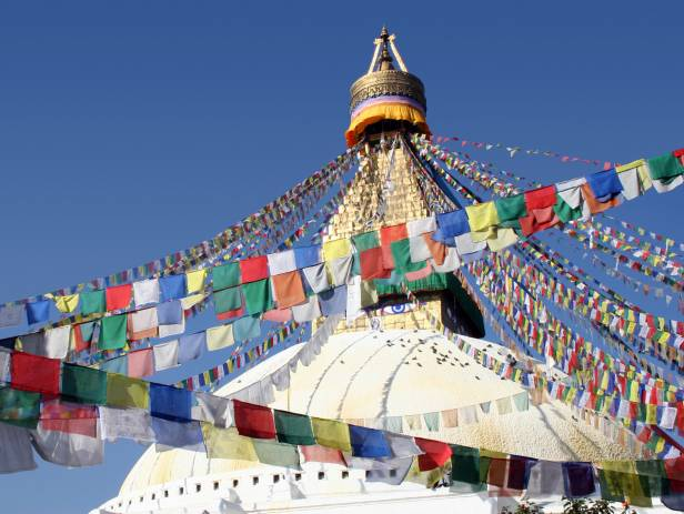 The great monument of Swayambhunath located in Kathmandu