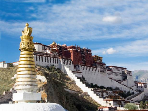 The magnificent Potala Palace in Lhasa, capital of Tibet