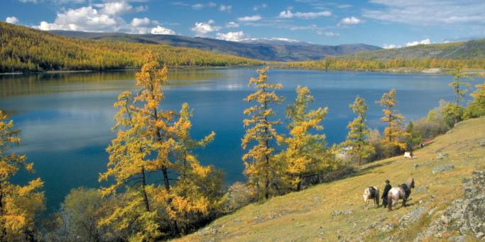 Lake in Mongolia | Trans-siberian Railway | Mongolia
