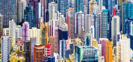 Hong Kong colourful building blocks - China Tours - On The Go Tours