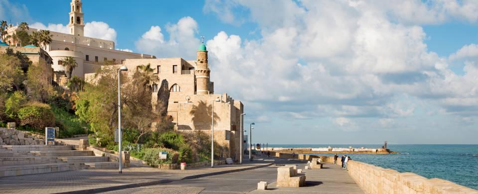 Old Jaffa sitting on the waterfront, near Tel Aviv