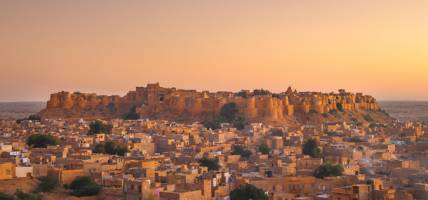 Jaisalmer - Sunset view of Fort and city