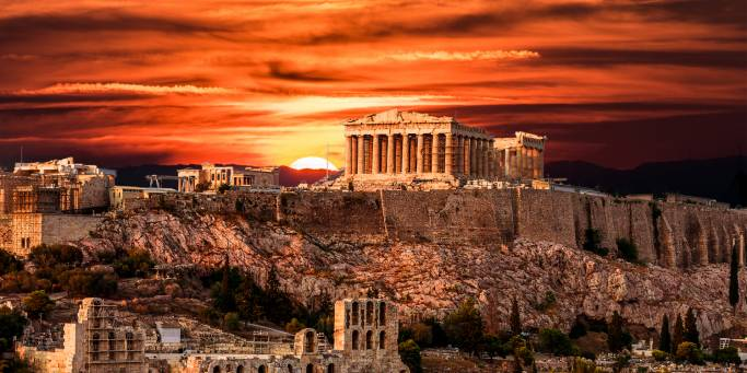 The Acropolis at sunset | Athens | Greece