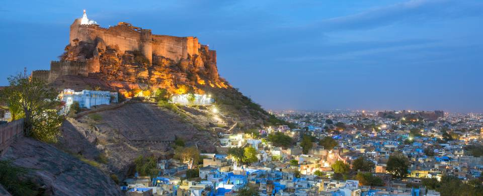 Blue City and Mehrangarh Fort in Jodhpur