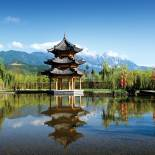 Temple and mountains | Lijiang | China